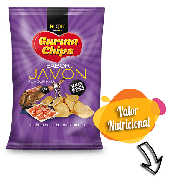 Patatas fritas sabor jamón Fritoper