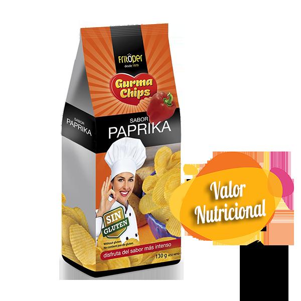 Patatas onduladas sin gluten sabor Paprika