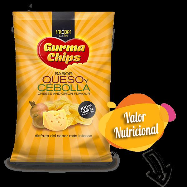 Patatas fritas sabor queso y cebolla 140 gr