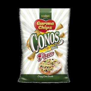 Conos de maiz sabor pizza