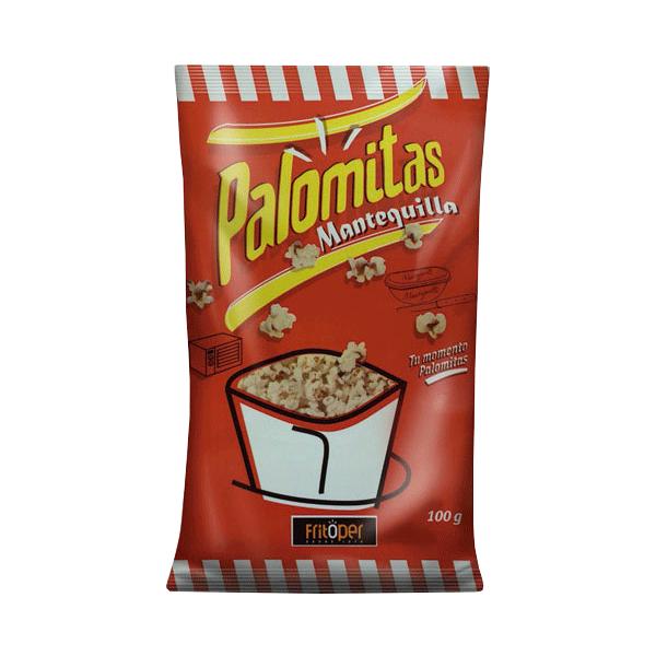 Palomitas microondas con mantequilla. 100 gr.