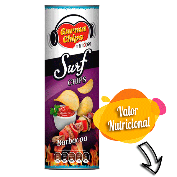 Surf chips barbacoa. 160 gr