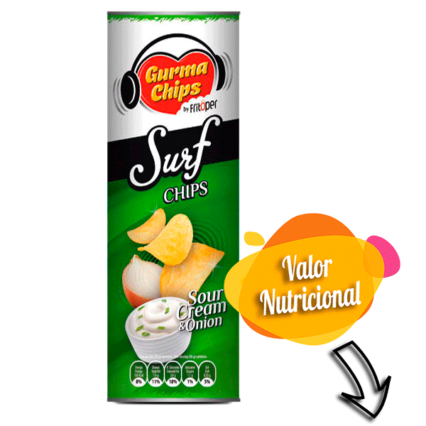 Surf Chips - Sour cream & Onion 160 gr