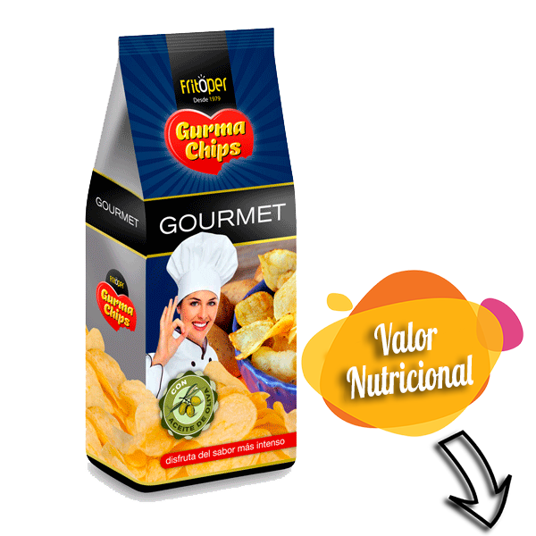 Patatas fritas sin gluten aceite de oliva. 130 gr.