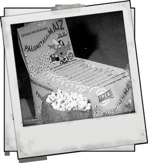 Primeras palomitas para microondas creadas por Fritos Pérez S.L.