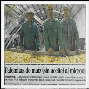 """2011-2012 Fritoper lanza su novedoso producto """"Palomitas para microondas sin aceite"""""""