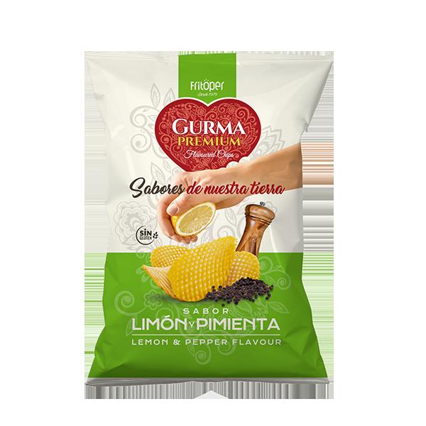 Gurma Premium - Patatas fritas con sabor a limón y pimienta