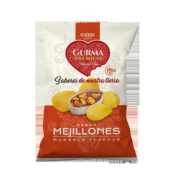patatas sabor mejillon gurma premium